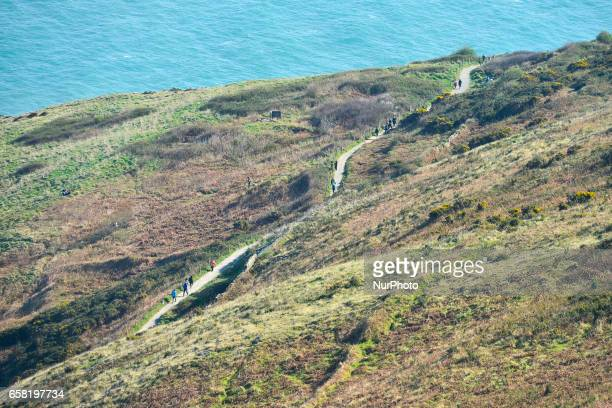 A general view of a part of BrayGreystones cliff walk On Sunday March 26 in Bray Ireland