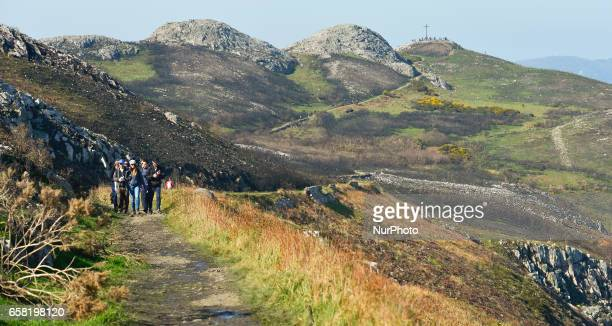 A general view of a part of BrayGreystones cliff walk with a view of Bray Head in the background On Sunday March 26 in Bray Ireland