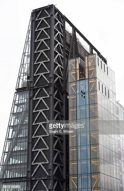 General view of a participant abseiling down the Cheese Grater during the Outward Bound Trust's and the Royal Navy Royal Marine's Charity's most...
