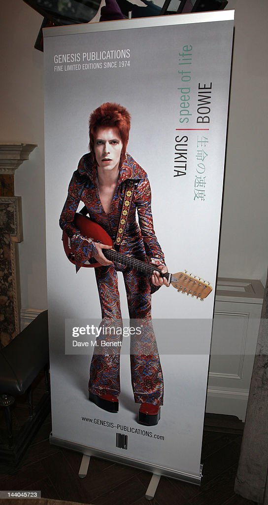 A general view of a party to launch the book 'Speed of Life,' containing photographs of David Bowie, by Masayoshi Sukita at the Arts Club on May 8, 2012 in Dover St, London.