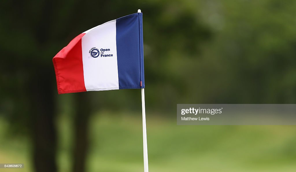 A general view of a pin flag during a pro-am round ahead of the 100th Open de France at Le Golf National on June 29, 2016 in Paris, France.