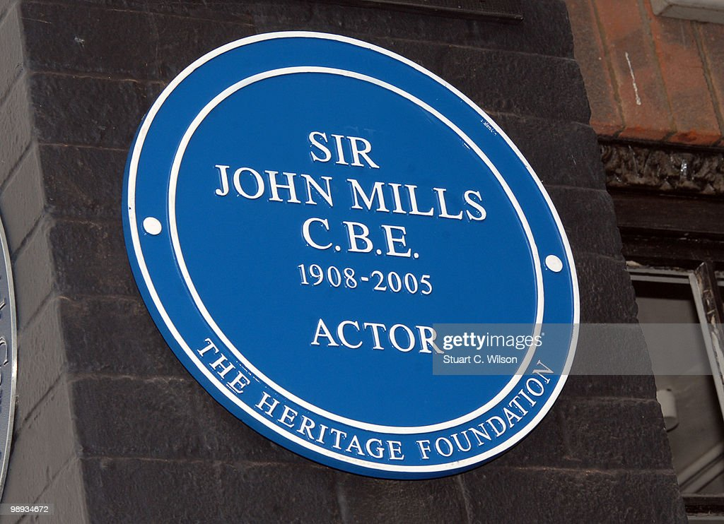 General view of a plaque for Sir John Mills at Pinewood Studios on May 9, 2010 in London, England.