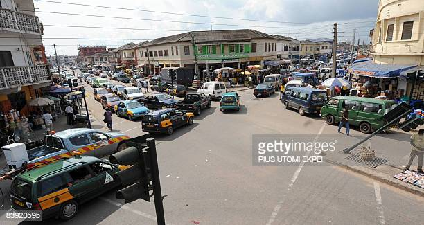 A general view of a port city of Takoradi on December 4 2008 The port of Takoradi and its twin city Sekondi midway between the Ghanaian capital Accra...