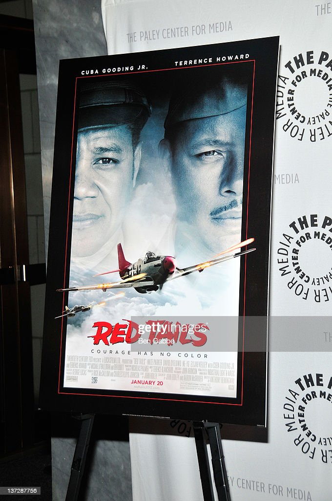 A general view of a poster board at PALEYAFTERDARK 'Red Tails' at The Paley Center for Media on January 18 2012 in New York City