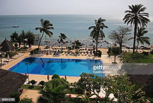 A general view of a ppol and beach at the Hotel Sofitel on December 27 2007 in Dakar Republic of Senegal Dakar is the capital city of Senegal that is...