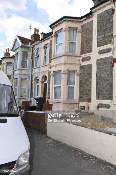 A general view of a property in Belle Vue Road Easton Bristol being searched by police after a 19yearold man was arrested under the Terrorism Act in...