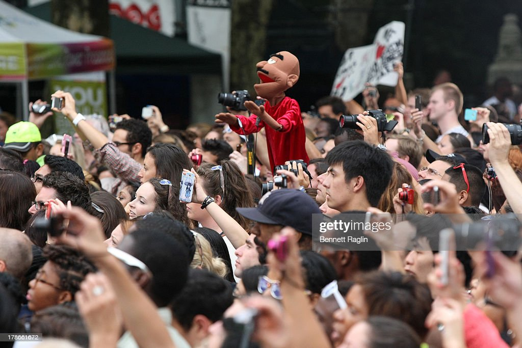 A general view of a puppet in the crowd during ABC's 'Good Morning America' at Rumsey Playfield on August 30, 2013 in New York City.
