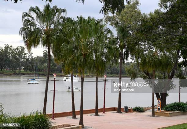 A general view of a refurbished section of the river bank is seen along the Fitzroy river on July 09 2017 in Rockhampton Australia