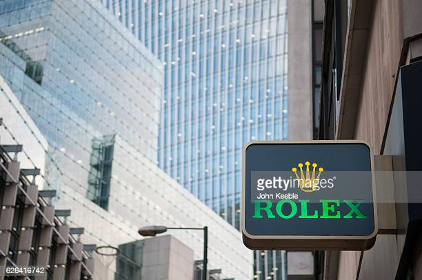 A general view of a Rolex sign is displayed at a high class watch store in Fenchurch Sreet on November 22 2016 vin London United Kingdom