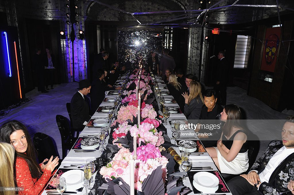 A general view of a room designed by Bronson van Wyck at Moda Operandi and St. Regis Hotels & Resorts event 'A Midnight Supper' to celebrate the launch of the exclusive Punk Collection on preview at The St Regis New York on May 4, 2013 in New York City.