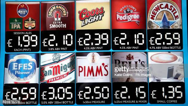 A general view of a sign outside a Wetherspoon pub in Windsor The leading pub chain JD Wetherspoon is to slash prices on some drinks and food from...