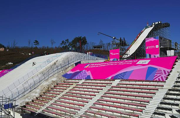 general view of a snowboard jump slope during a practice session for picture id625447322?k=6&m=625447322&s=612x612&w=0&h=xjyDh2uFKP8deJsyyjkH4jnruOK6EOBmsusXVdjUvKc= - カイルマックはイケメンスノーボード選手!プロフィールと年齢と身長は?