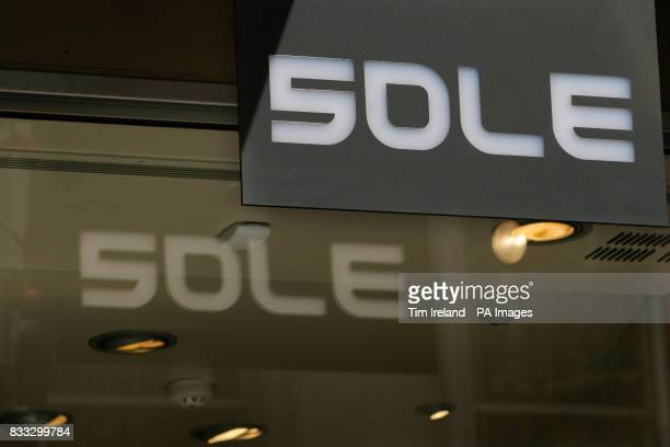 General view of a Sole shoe outlet in Covent Garden central London
