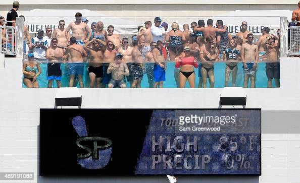 A general view of a stadium pool during the game between the Jacksonville Jaguars and the Carolina Panthers at EverBank Field on September 13 2015 in...