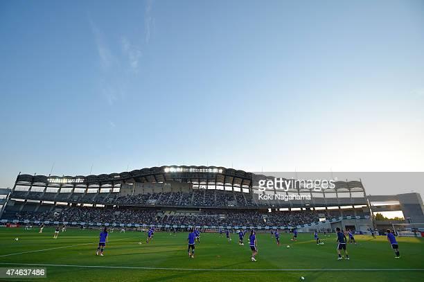 General view of a stadium prior to the MSAD Nadeshiko Cup 2015 women's soccer international friendly match between Japan and New Zealand at Kagawa...