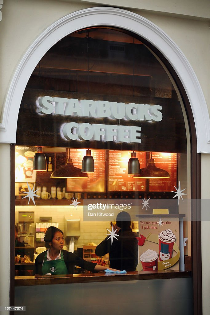 A general view of a Starbucks coffee shop on December 3, 2012 in London, England. The coffee chain has announced that it is looking to declare larger profits made in Britain and pay more tax after it emerged that they have been legally avoiding paying their share in the UK along with other companies such as Google, and Amazon. The Chancellor George Osborne is likely to announce tougher measures on companies engaged in tax avoidance schemes when he delivers his autumn statement on Wednesday.