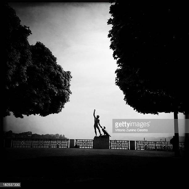 A general view of a statue in a garden on September 28 2013 in Zurich Switzerland Zurich is the capital of the canton of Zurich and is the largest...