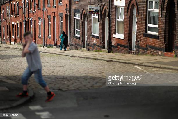 A general view of a street in Rochdale as labour party candidate Simon Danczuk campaigns on the streets as the second week of electioneering comes to...