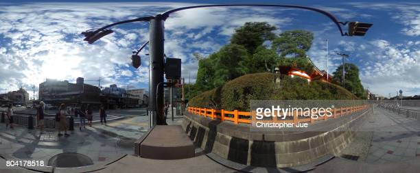 A general view of a street next to Yasaka Shrine on June 30 2017 in Kyoto Japan