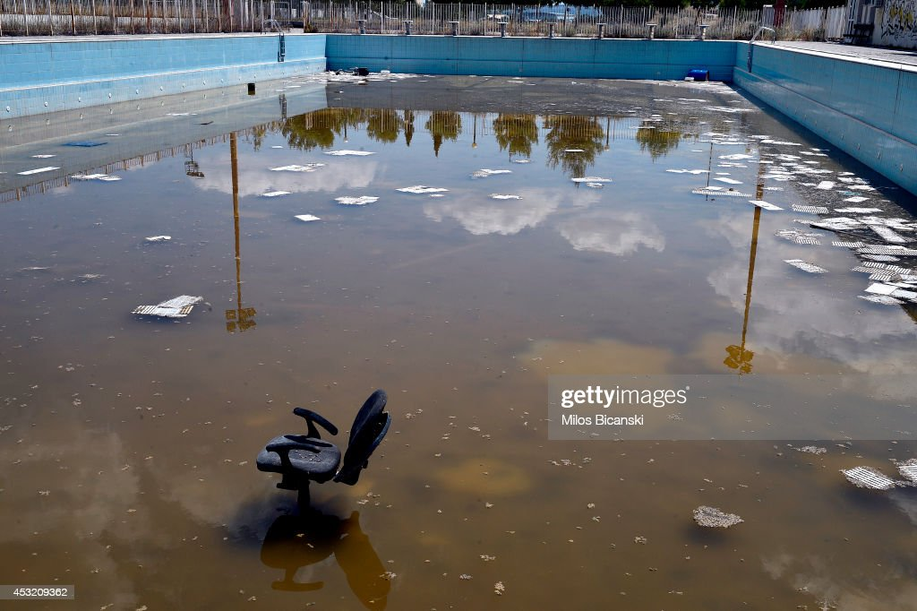 General View Of A Swimming Pool In The Former Olympic Village In Athens  Greece On July