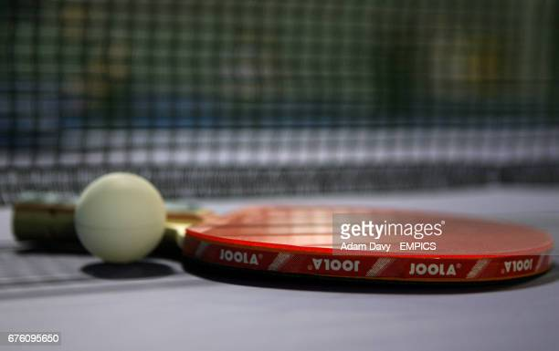 General view of a Table Tennis paddle and ball