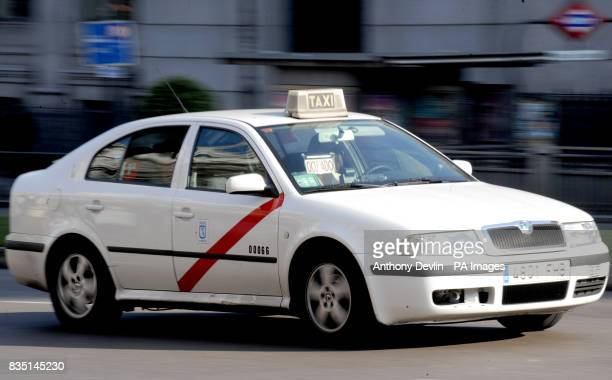 General view of a Taxi cab in Madrid Spain