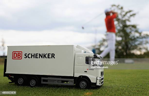 A general view of a tee marker during day two of the DD Real Czech Masters at Albatross Golf Resort on August 28 2015 in Prague Czech Republic
