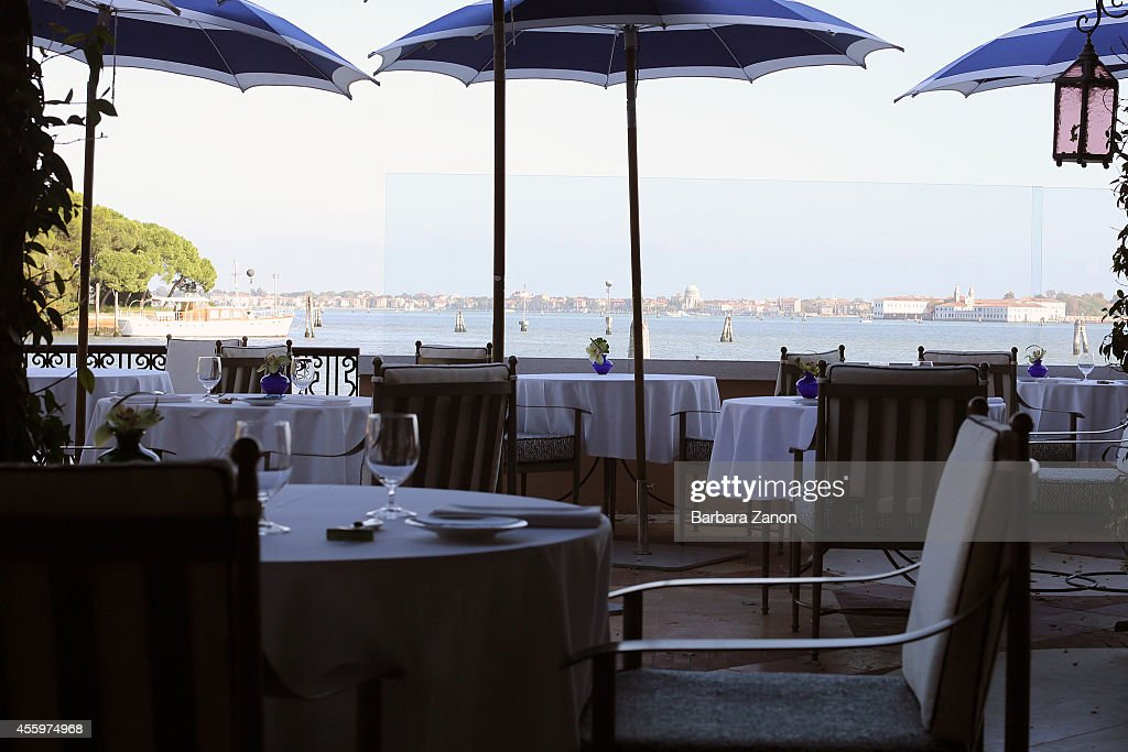 General view of a terrace overlooking the lagoon at the Belmond Cipriani Hotel at Giudecca Island on September 23, 2014 in Venice, Italy. George Clooney is set to marry his lawyer fiancee Amal Alamuddin this weekend in Venice where they met after it was previously thought they would marry on Lake Como where the actor has a home.