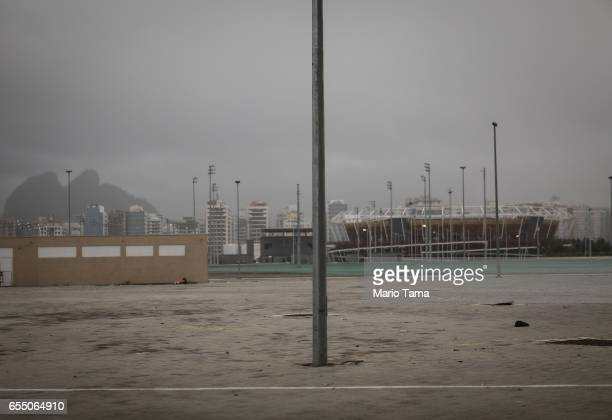 A general view of a tower in the Olympic Park on March 18 2017 in Rio de Janeiro Brazil Seven months after the Rio hosted the first Olympic games in...