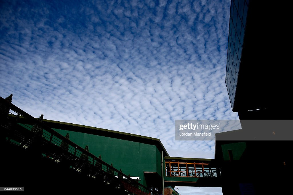 A general view of a walkway to Centre Court ahead of the start of day four of the Wimbledon Lawn Tennis Championships at the All England Lawn Tennis and Croquet Club on July 1, 2016 in London, England.