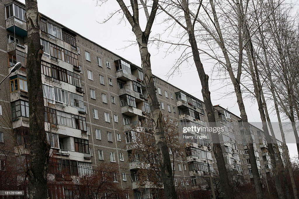 A general view of a Yekaterinburg residential area on November 3, 2011 in Yekaterinburg, Russia. Yekaterinburg is one of thirteen cities proposed as a host city for the 2018 FIFA World Cup in Russia.