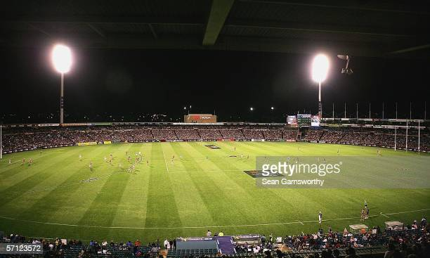 A general view of AAMI Stadium during the NAB Cup Grand Final between the Adelaide Crows and Geelong Cats at Adelaide Oval March 18 2006 in Adelaide...