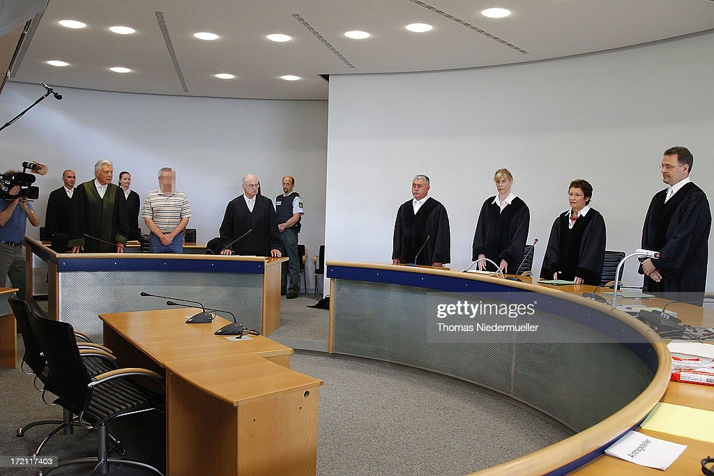 General view of accused Russian spies with the aliases Andreas and Heidrun Anschlag appear in court on the last day of their trial on July 2, 2013 in Stuttgart, Germany. The couple came to Germany in 1988, reportedly as KGB spies, and continued operating for the modern Russian intelligence service while maintaining a front as immigrants from South America until their arrest in late 2011 by German police. Among the couple's biggest coups was recruiting Dutch Foreign Ministry worker Raymond Valentino Poeteray, who sold them top secret NATO documents. The couple also had a daughter while living in Germany who is now in her early 20's and reportedly knew nothing of her parents' true identity and espionage activities. German law enforcement authorities came onto the Anschlags' trail following the arrests last year of 10 Russian spies in the United States.