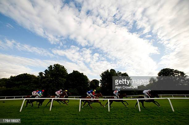 A general view of action at Windsor racecourse on August 12 2013 in Windsor England