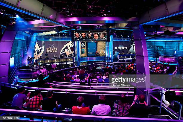 A general view of action between Ninjas in Pyjamas and G2 Esports at the ELeague Arena at Turner Studios on June 3 2016 in Atlanta Georgia