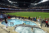 General view of action between the Arizona Diamondbacks and the Philadelphia Phillies during the MLB game at Chase Field on May 12 2013 in Phoenix...