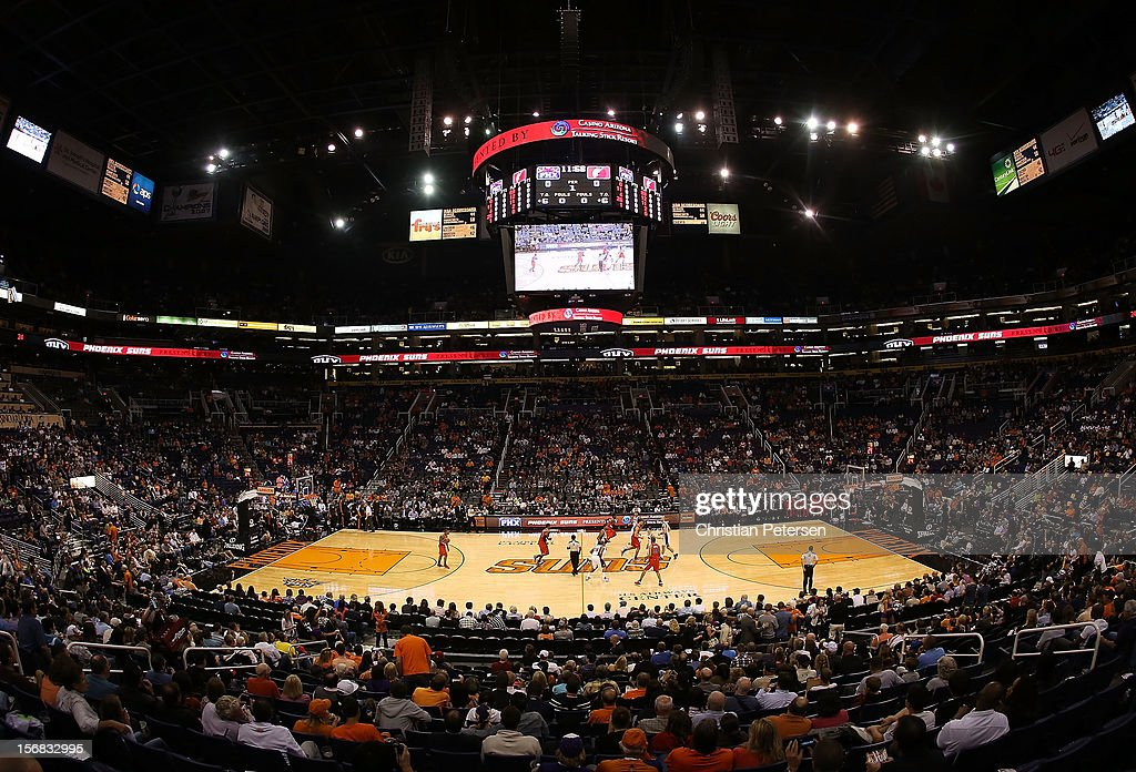 General view of action between the Portland Trail Blazers and the Phoenix Suns during the NBA game at US Airways Center on November 21, 2012 in Phoenix, Arizona. The Suns defeated the Trail Blazers 114-87.
