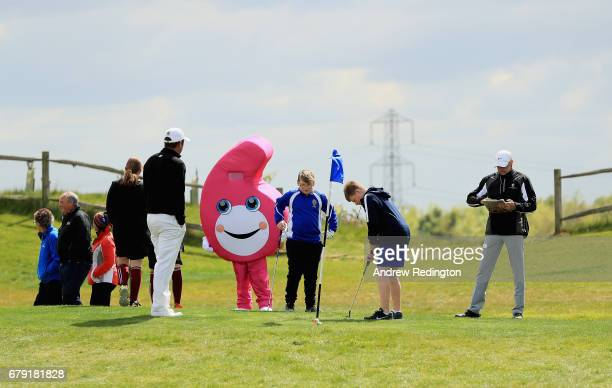 A general view of action during a Golf Foundation GolfSixes Academy event at prior to the start of GolfSixes at The Centurion Club on May 5 2017 in...