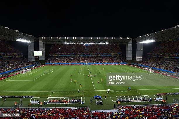 A general view of action during the 2014 FIFA World Cup Brazil Group B match between Chile and Australia at Arena Pantanal on June 13 2014 in Cuiaba...