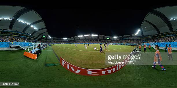A general view of action during the 2014 FIFA World Cup Brazil Group C match between Japan v Greece at Estadio das Dunas on June 19 2014 in Natal...