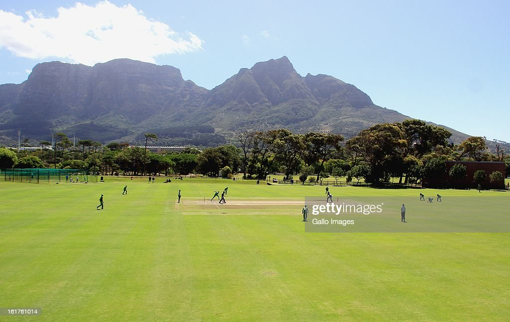 General view of action during the 2nd U/19 Youth One Day International match between South Africa and England at Bellville Cricket Club on February 15, 2013 in Cape Town, South Africa.