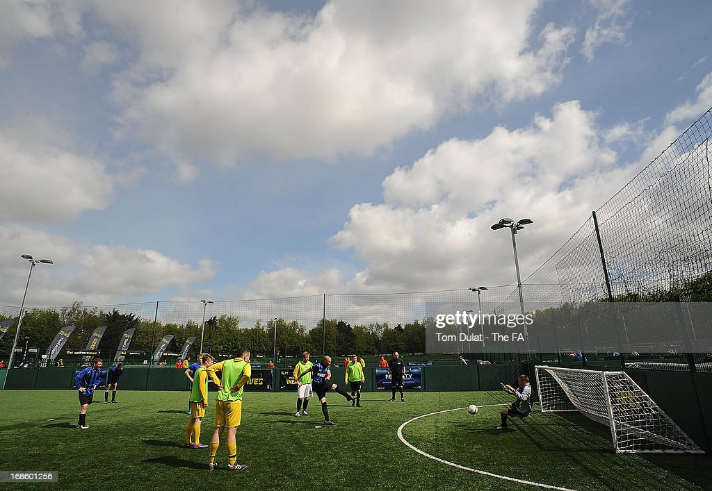 General view of action during the FA Fives at Power League Community on May 12, 2013 in Basingstoke, England.