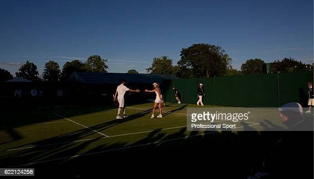A general view of action during the Mixed Double's second round match between Daniele Bracciali and Roberta Vinci of Italy and Philipp Petzschner and...