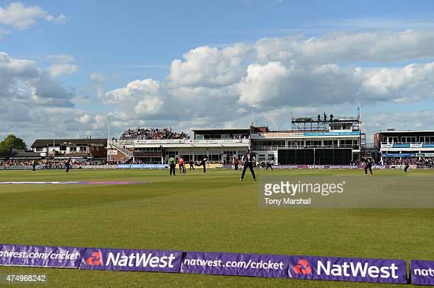 A general view of action during the NatWest T20 Blast match between Leicestershire Foxes and Durham Jets at Grace Road on May 28 2015 in Leicester...