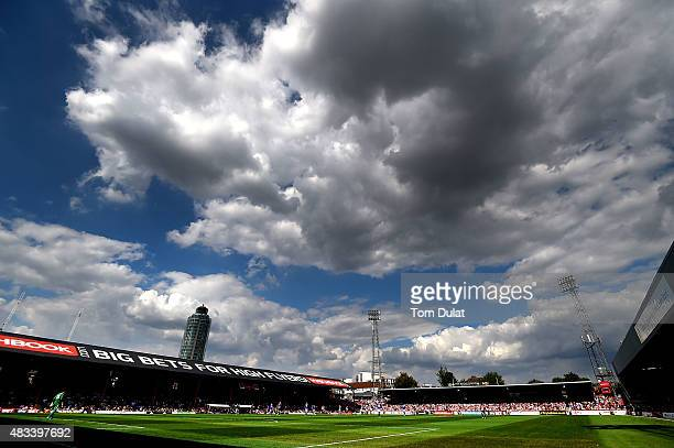 A general view of action during the Sky Bet Championship match between Brentford and Ipswich Town at Griffin Park on August 8 2015 in Brentford...