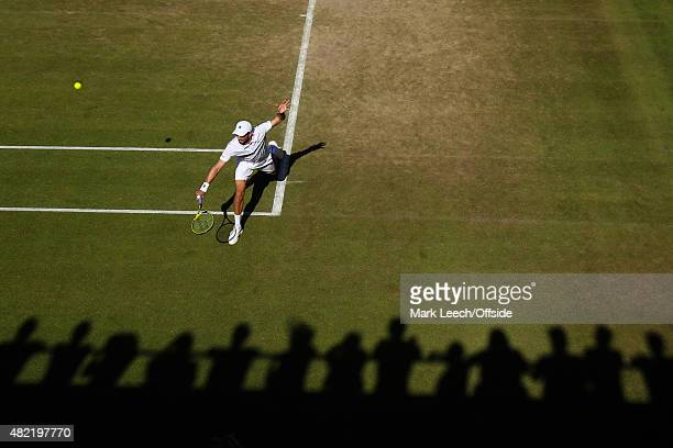 A general view of action on court 18 as the Bryan Brothers take on Mate Pavic Michael Venus on day seven of the Wimbledon Lawn Tennis Championships...