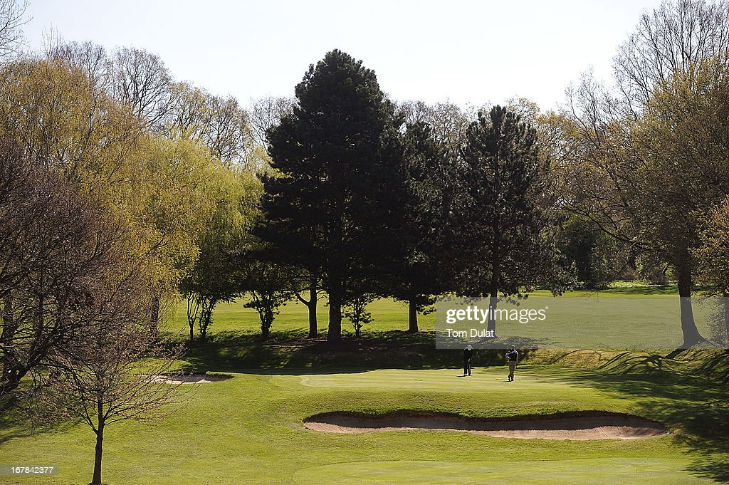 General view of action on the 10th green during the Powerade PGA Assistants' Championship East Regional Qualifier at Chigwell Golf Club on May 01, 2013 in Chigwell, England.