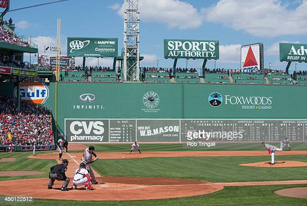A general view of action on the field at Fenway Park during a game against the Baltimore Orioles and the Boston Red Sox at Fenway Park in Boston...