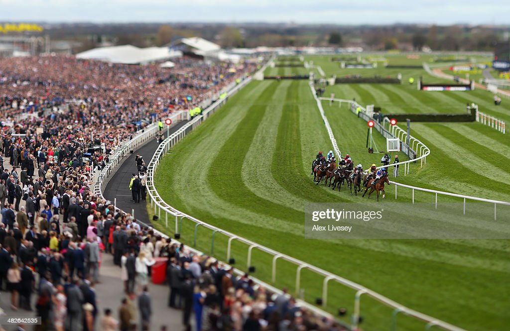 A general view of Aintree Racecourse is seen during the International Festival For Business 2014 Top Novices' Hurdle Race at Aintree Racecourse on April 4, 2014 in Liverpool, England.