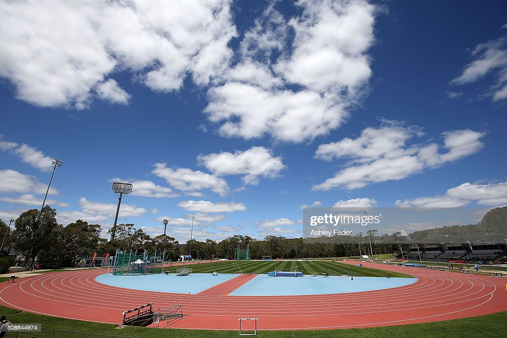 General View of AIS Athletics Track during the IPC Athletics Grand Prix on February 6, 2016 in Canberra, Australia.